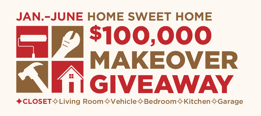 Home Sweet Home $100,000 Makeover Giveaway