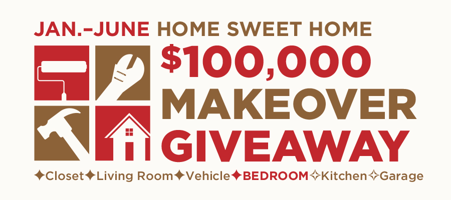 $100,000 Home Sweet Home Makeover Giveaway