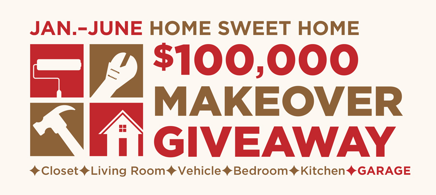 Home Sweet Home $100,000 Makeover Giveaway - GARAGE